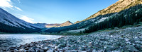 Panorama of Grizzly Lake at Dawn