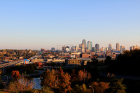 Kansas City Skyline on Halloween